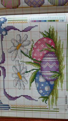 Cross Stitch Tree, Cross Stitch Heart, Cross Stitch Flowers, Cross Stitch Designs, Cross Stitch Patterns, Cross Stitching, Cross Stitch Embroidery, Easter Cross, Crochet Chart