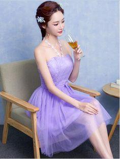Sexy Weg Von der Schulter Kurze Lavendel Rosa Champagne Graduation Kleider Neckholder Sleeveless Hochzeit Kleider Vestidos