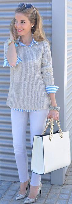 Choies Blue Stripe Shirt by Te Cuento Mis Trucos.
