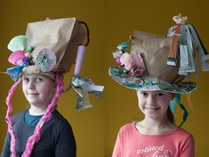 Barrets creatius per a Carnaval Crazy Hat Day, Crazy Hats, Diy For Kids, Cool Kids, Crafts For Kids, Arts And Crafts, Theme Carnaval, Funny Hats, Art Lesson Plans