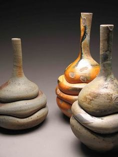 Ted Adler   free form pottery, like rolls of fat