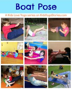 Pictures of children around the world practicing Boat Pose >> Kids Love Yoga series on Kids Yoga Stories