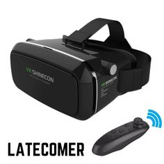 Hot VR Shinecon Bluetooth Virtual Reality 3D Glasses Headset For Iphone Samsung VR Box 4.0-6.0 Inch Phone Google Cardboard 2.0
