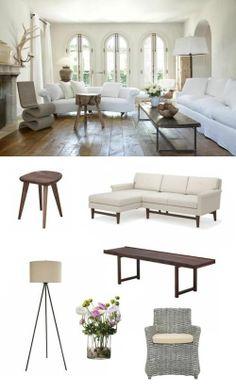 Rustic and warm #livingroom. #adoredecor
