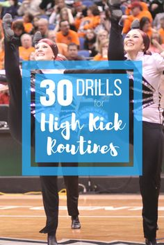 30 Techniques, Drills and Exercises for Your High Kick Routines. Instructional Video. Dance team. Dance Coach. Kickline.