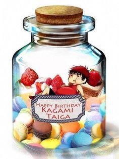 Kagami Taiga - Kuroko no Basuke - Image - Zerochan Anime Image Board Anime Kawaii, Anime Chibi, Anime Art, Kuroko No Basket, Kuroko Chibi, Mayuzumi Chihiro, Chibi Food, Happy Birthday Photos, Naruto