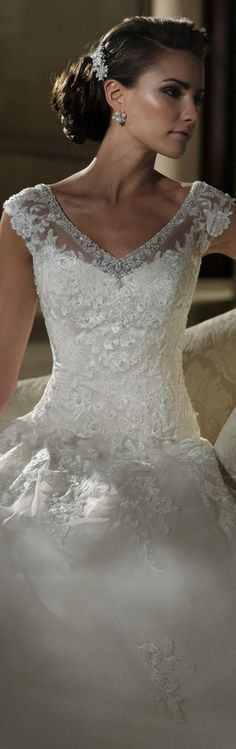 66e7aff658 Wedding Dresses 2013 Collection - David Tutera 213248 - Parker. Tulle,  organza and lace