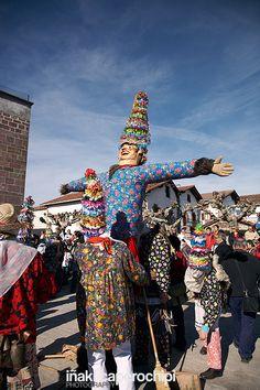 Carnavales  ancestrales de Lantz  Navarra  Spain