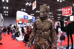 There were plenty of Groots, but we couldn't find one that topped Daniel Ramos' adaptation. He spent nine days creating the costume, which is made of intertwined pipes and airbrushed plaques of vinyl foam for bark.