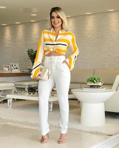 35 Best Ideas for moda femenina 2019 casual Love Fashion, Trendy Fashion, Girl Fashion, Fashion Looks, Womens Fashion, Casual Chic, Casual Wear, Casual Pants, Outfit Stile