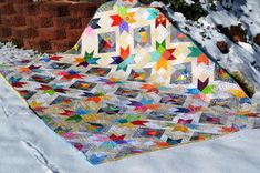 This beautiful Star Value Quilt is the perfect stashbuster!!