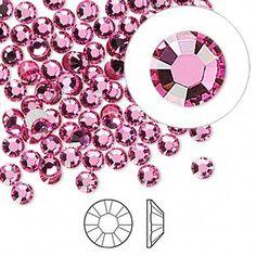 Flat back, Swarovski crystal rhinestone, rose, foil back, 3.8-4mm Xilion rose (2058), SS16. Sold per pkg of 1,440 (10 gross).