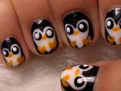 Cute Penguin Nail Art Tutorial