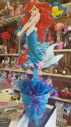 Ariel Centerpiece Disney Princess Extra by BabyPartyBoutique
