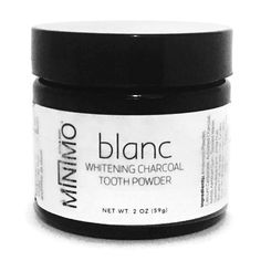 Blanc Whitening Charcoal Tooth Powder by Minimo Boutique