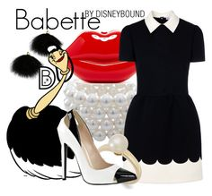 """Babette"" by leslieakay ❤ liked on Polyvore featuring Lulu*s, Carolee, Disney, RED Valentino, Victoria Townsend, women's clothing, women, female, woman and misses"