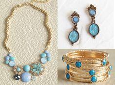 Blue Wedding Jewelry  from rusticweddingchic.com