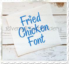 $3.95Fried Chicken Machine Embroidery Font Alphabet