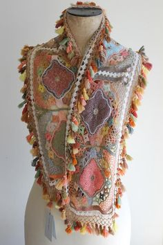Sophie Digard Crochet Wool Scarf. Shop the scarves on http://thecreatory.bigcartel.com/