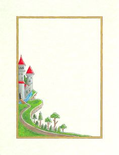 Deuteronomy Castle by dkpalmer on DeviantArt Borders For Paper, Borders And Frames, Boarder Designs, Page Borders, Sunflower Wallpaper, Frame Clipart, Stationery Paper, Writing Paper, Coloring Pages