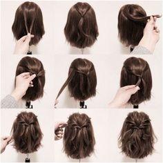 15 Möglichkeiten, Ihre Lobs zu stylen (Long Bob Frisur Ideen) – Frisuren - New Site 15 maneiras de estilizar seus penteados (idéias de penteado longo Bob) - hairstyles Braids For Short Hair, Long Ponytails, Twisted Ponytail, Easy Hairstyles For Short Hair, Bob Hairstyles How To Style, Long Bob Updo, Hairstyles For Bobs, Short Hair Dos, Ponytail Hairstyles