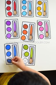 Back to School Preschool and Kindergarten Learning Materials Pre Reading Activities, Fall Preschool Activities, Kindergarten Learning, Counting Activities, Back To School Crafts, Back To School Activities, Letter Patterns, Pattern Blocks, Teaching Babies