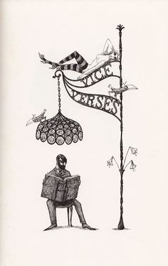 "Edward Gorey ""Vice Verses"" from Scrap Irony — an anthology of witty, sarcastic observations on everything from courtship to vice to the era's hottest technologies, like cybernetics and space flight"