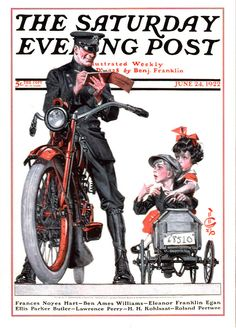 Ticket by J C Leyendecker, June 24, 1922, The Saturday Evening Post.