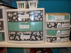 paper fronts for storage drawers - just like this!