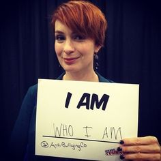 Felicia Day, (Codex, The Guild ) anti bullying at NYCC