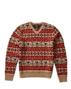 8e431860cf4fd6 Wool-Blend V-Neck Pullover - RRL Crewneck - RalphLauren.com Winter Sweaters