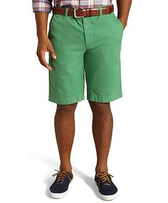 Brooks Brothers Garment-Dyed Twill Bermuda Shorts in Pine Green.