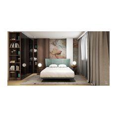 La celălalt capăt al holului central ne îndreptăm către zona de noapte, unde dormitorul matrimonial reia cromatica livingului și mărește vizual spațiul prin șifonierul placat cu sticlă neagră▪️ În camera oaspeților am amenajat o zonă de lucru, o zonă de spații de depozitare, un spațiu de noapte cu canapea extensibilă și astfel camera poate servi atât ca zonă de lucru, cât și ca dormitor al musafirilor💼🛋️ Design Projects, Interior Design, Bed, Furniture, Home Decor, Interior Designing, Nest Design, Decoration Home, Home Interior Design