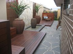 Outdoor Living Design Ideas - Photos of Outdoor Living . Browse Photos from Australian Designers & Trade Professionals, Create an Inspiration Board to save your favourite images. Outdoor Paving, Garden Paving, Outdoor Landscaping, Outdoor Gardens, Outdoor Decor, Modern Gardens, Landscaping Design, Deck With Pergola, Black Pergola