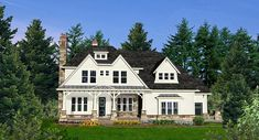 Southern Style House Plan 80721 with 5 Bed, 4 Bath, 3 Car Garage - Beauty Black Pins Garage House Plans, Craftsman Style House Plans, Country House Plans, Best House Plans, Car Garage, Farmhouse Plans, Farmhouse Design, Country Farmhouse, Modern Farmhouse