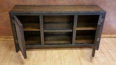 Steel & Wood Vintage Industrial Console Cabinet 002S von IndustEvo