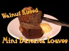 Walnut Kissed Mini Banana Loaves - Video Recipe   ----  I'll show you how to make super simple mini banana loaves that are kissed with walnuts. This recipe has walnuts just on the top, and not within the actual banana loaves.    You will really love my banana bread recipe. It has a hint of cinnamon that kicks it up a notch.    Video link at end of this video 4 mobile users:  Chocolate Layer Cake With Chocolate Mousse Filling And Topped With Chocolate Ganache  http://youtu.be/1CgZLKH75Bg?hd=1