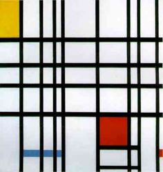 Piet Mondriaan, composition of red, yellow and hardly any blue at all