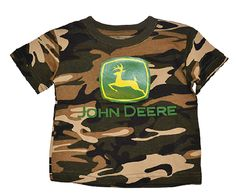 John Deere Infant and Toddler Camo T-Shirt John Deere Baby, Camo, Onesies, Infant, Mens Tops, T Shirt, Outfits, Women, Fashion