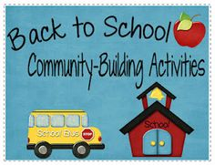 Community building activities for back to school from Ms. Fultz's Corner. $