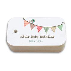 Printable custom baby shower tags on Etsy