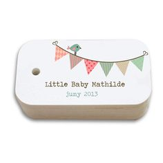 Printable custom baby shower tags on Etsy