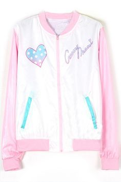 Beautiful Faery Elastic Zippered Pink Jacket