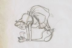 "alice in wonderland disney sketch ~ ""Do you want us both to lose our heads?!?"