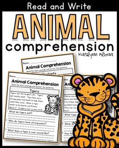 Animal Reading Comprehension passages - short, basic passages to help students improve their reading comprehension skills and learn a little about animals!