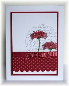 Scrappin' and Stampin' in GJ: August 2012 raspberry and old olive