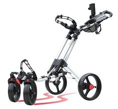 CaddyCruiser One-Click Swivel - 4 Wheel Push Cart Shop for the best in Golf Push Carts and More at  http://bestgolfpushcarts.net/product-category/golf-push-carts/bag-boy/