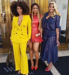 Cynthia, Marlo, and Nene. Black Girl Swag, Black Girls Rock, Black Women Fashion, Night Outfits, Cool Outfits, Fashion Outfits, Abaya Fashion, Best Of Fashion Week, Brunch Outfit