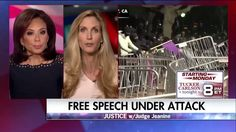 """""""You can't use the heckler's veto. There's loads of First Amendment Supreme Court law on that issue.""""  On """"Justice"""" last night, Ann Coulter talked about the attack on free speech by those in the far left."""