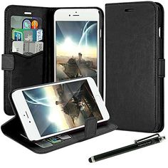 iPhone 6 Plus Case, LK [Kickstand Feature] iPhone 6 Plus 5.5inch Wallet PU Leather Case Flip Cover Case Built-in Card Slots & Stand + Free Screen Protector & Stylus Pen (Black) LK http://www.amazon.com/dp/B00M90D128/ref=cm_sw_r_pi_dp_eMzWub15597G5